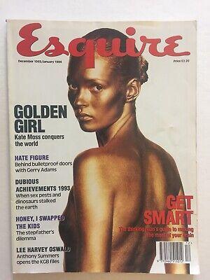 Esquire UK British. December 1993 / January 1994. Kate Moss. Lee Harvey Oswald