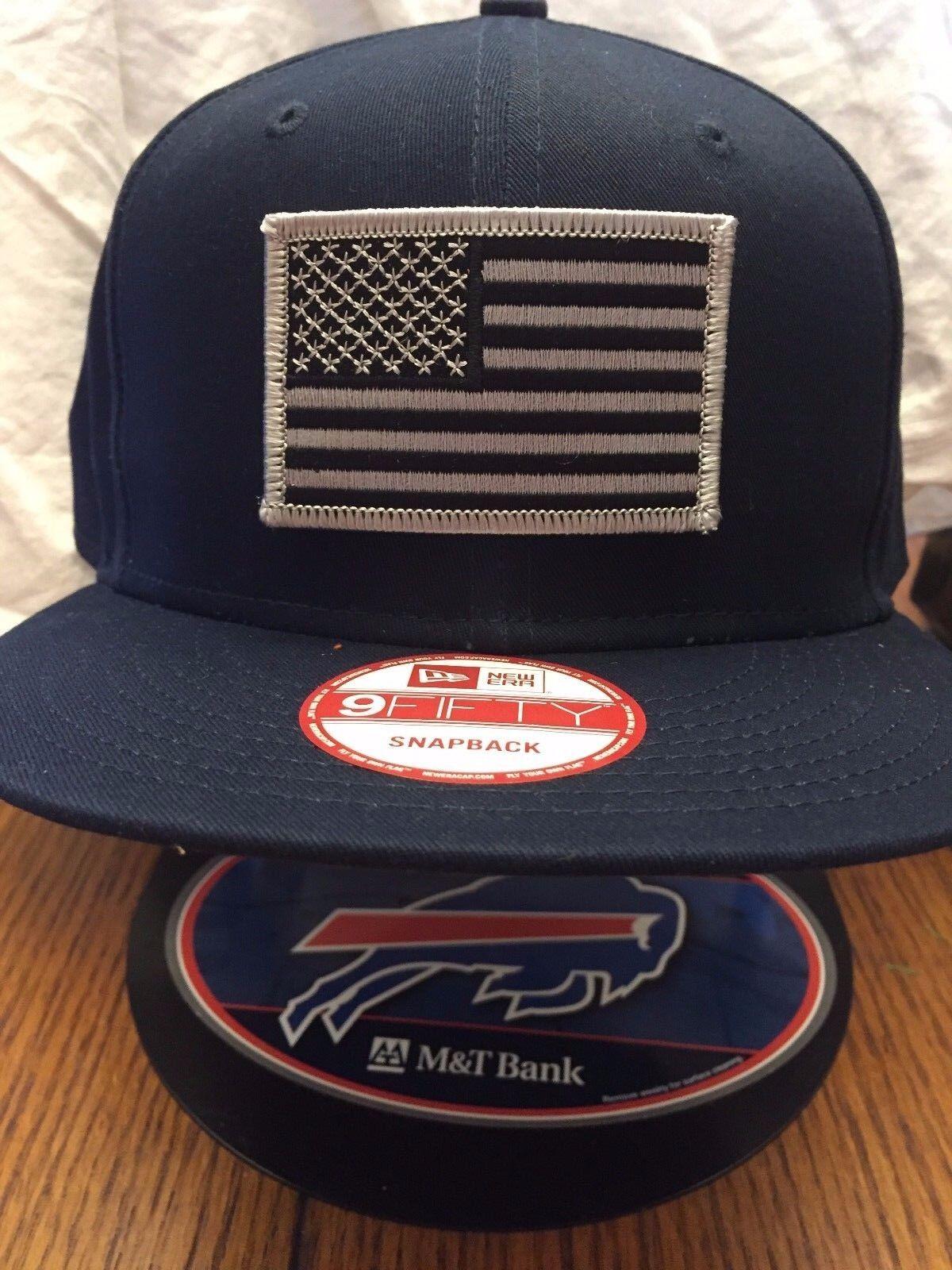 New Era NE400 Charcoal Snapback Flat Bill Cap w// Red Black American Flag Patch
