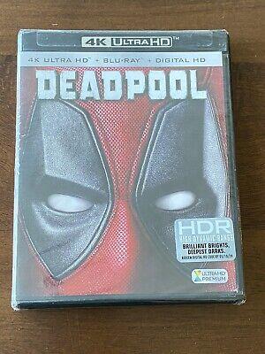 Deadpool (Blu-ray Disc, 2016, 2-Disc Set, 4K Ultra HD Blu-ray/Blu-ray) NEW