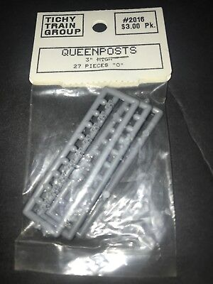 """Used,  tichy Train group queenpost 3"""" wood car detail part 2 rail on3 on30 oroto 48 for sale  Elyria"""