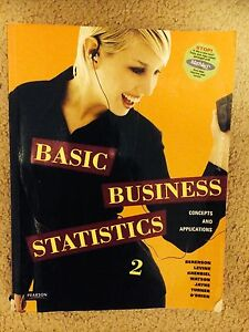 Basic Business Statistics 2 Eatons Hill Pine Rivers Area Preview