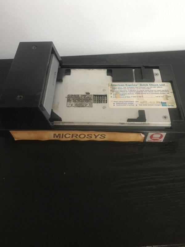 Vintage Bartizan Addressograph Manual Credit Card Imprint Machine.Slider (kt)
