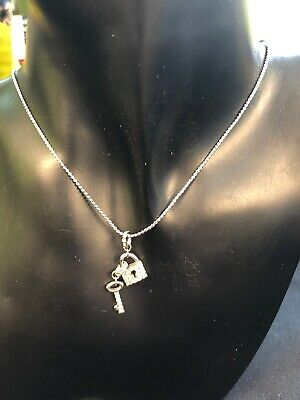 Genuine Vintage Swarovski Crystal Padlock And Key Pendant/Necklace for sale  Shipping to South Africa