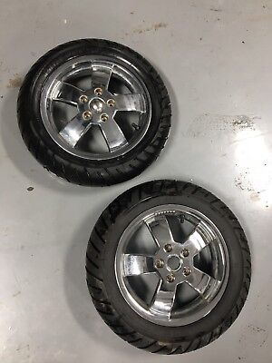 Chrome Rims + Pirelli tires Vespa Gts Gtv Gt 125 200 250 300