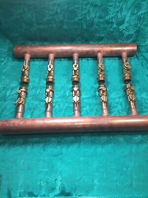 Wirsbo Upnor 5 Port 2 X 34 Inch Copper Manifold For Pex Piping Heating System