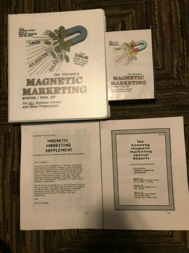 Dan Kennedy MAGNETIC MARKETING with Supplement/Reports +  Free Priority Shipping