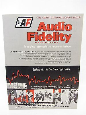 """vintage Audio Fidelity Records CATALOG  1959 or 1960 - 12 pages 8"""" x 11"""""""