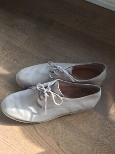 Taupe Leather Oxfords by Camper