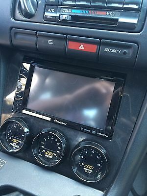 LOWER DASH FINISHER 3 52mm GAUGE POD double din for 95-98 Nissan 240sx s14  for sale  Sterling Heights
