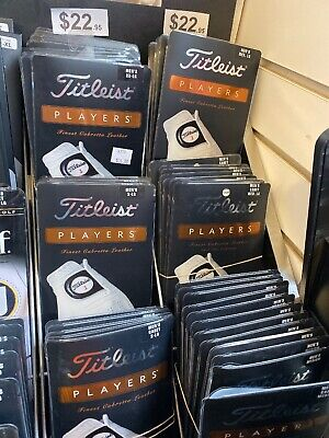 NEW 2 Pack Titleist Players Cabretta Leather Golf Gloves White, Pick Size ()