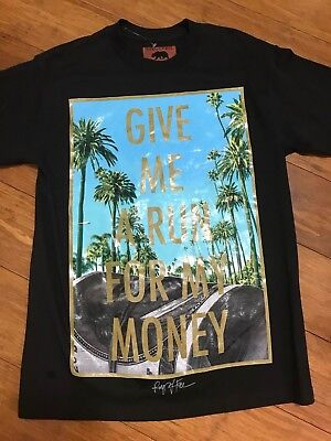 Ring Of Fire Mens 'Give Me a Run For My Money' Graphic T-Shirt Size