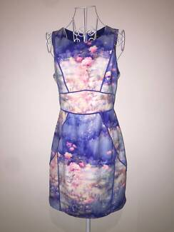 Bluejuice Pink and Blue Floral Printed Dress Size 10