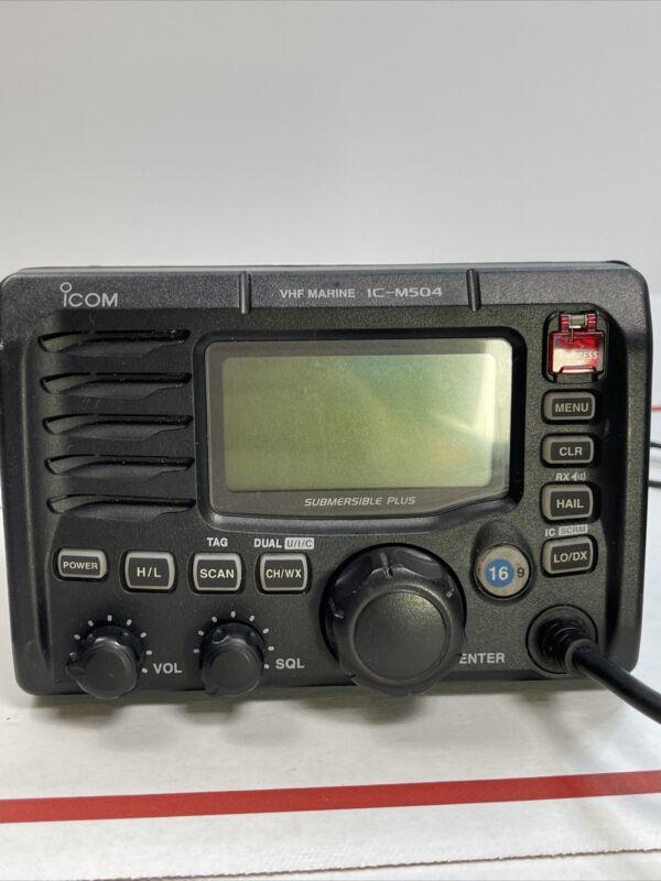 Icom IC-M504 Marine VHF Receiver Submersible Plus with Mic