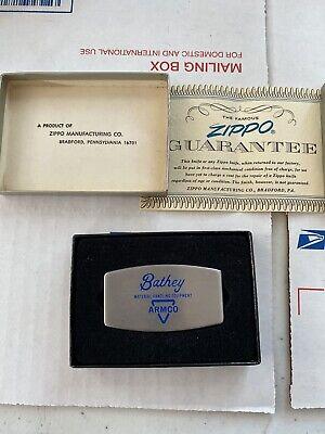 Vintage Bathey / Armco Equipment Advertising Zippo Pocket Knife Money Clip