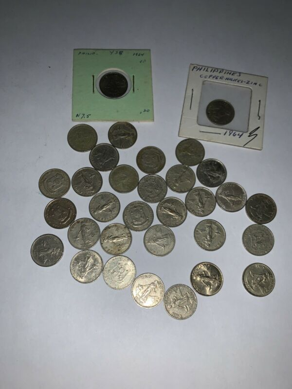 Old Philippines Coin Lot - 10 CENTAVOS -  Mixed Type Coins -
