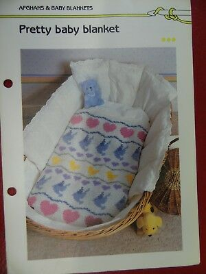 (Jacquard Stitch Baby Blanket crochet PATTERN INSTRUCTIONS FREE SHIPPING)