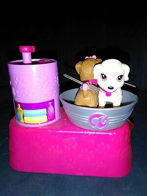 Mattel Barbie 2011 Suds and Hugs Pups Dog Wash Bath Spin Action Playset