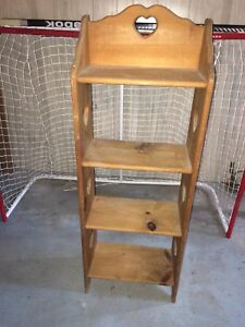 Wooden shelf $60