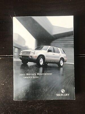 2002 Mercury Mountaineer Owners Manual OEM Free Shipping 2002 Mercury Mountaineer Manual