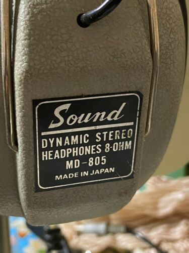 "Vintage ""Sound"" headphones  MD-805 made in Japan"