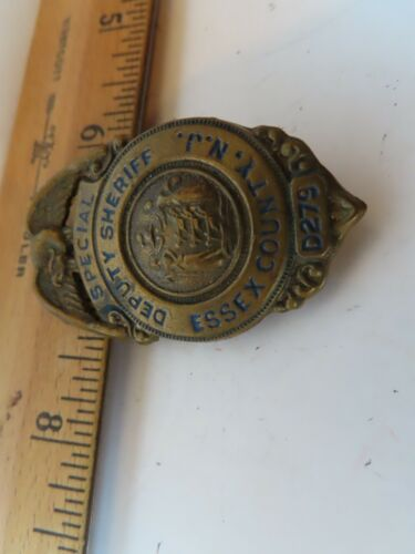 Rare Vintage Obsolete Essex County New Jersey Special Deputy Sheriff Badge