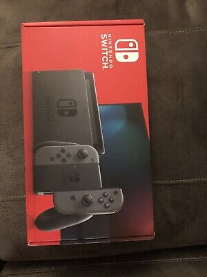 Ships Same Day - New Sealed Nintendo Switch 32GB V2 Console with Gray Joy-Con