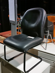 Office chair visitor desk furniture equipment seat metal leather Baulkham Hills The Hills District Preview