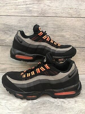 Nike Air Max 95 Halloween Mens Size 13 Black Orange Grey 609048-054 Preowned - Air Max 95 Halloween