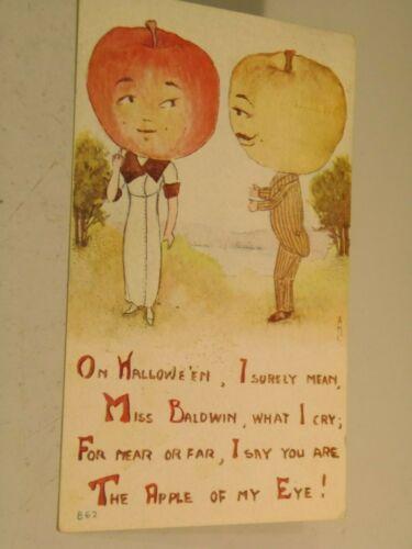 On Halloween Anthropomorphic Fruit  Holiday Postcard 3/15/21