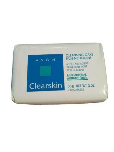 AVON CLEARSKIN CLEANSING CAKE ANTIBACTERIAL 3 OZ SOAP BAR VINTAGE REP STOCK 1998