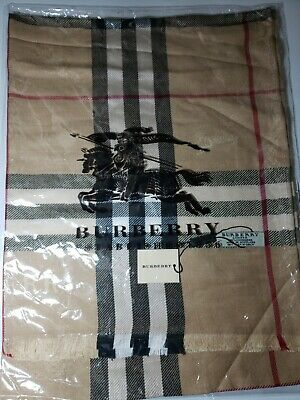 Authentic Burberry Reversible Check Classic 100% Cashmere Scarf BRAND NEW Unisex