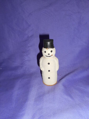 VINTAGE MADE IN GERMANY CHRISTMAS SNOWMAN ORNAMENT CANDY CONTAINER PAPER MACHE