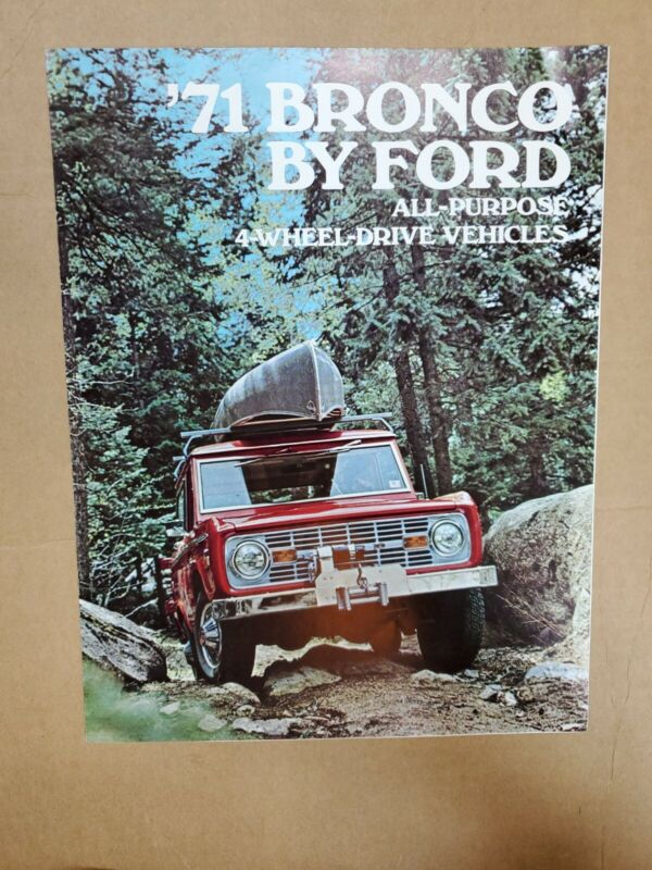 1971 Ford Bronco brochure