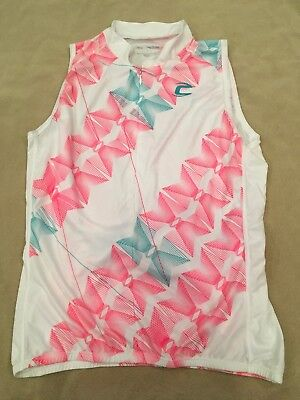 a3c7ddd51e0bd0 Cannondale Cycling Jersey Top Medium Womens White Coral Teal