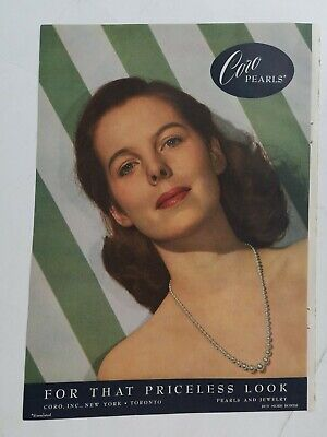 1944 Coro pearls pearl necklace photo vintage jewelry ad