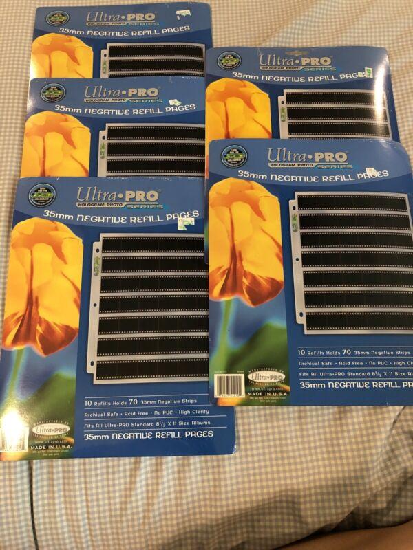 5 X 35mm Negative Sleeve Refills - Ultra Pro Hologram 10 Sheets Holds 350 Strips