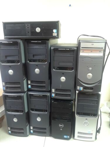 Lot Of 9 Dell Pcs As Is For Parts