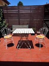 RETRO VINTAGE OUTDOOR GARDEN SETTING WROUGHT IRON TABLE & CHAIRS West Ryde Ryde Area Preview