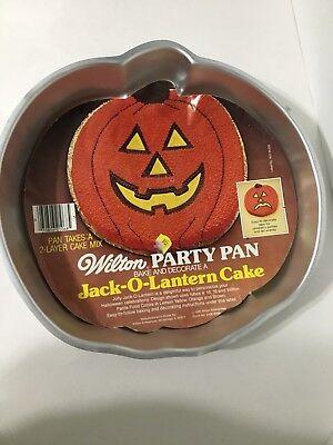 Wilton Halloween Pumpkin Cake Baking Pan Vintage 1997 Jack O Lantern NEW - Halloween Cakes Pumpkin