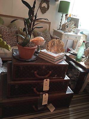 Louis Vuitton Vintage Luggage Lot Travel Trunk Set Suitcase Bisten Alzer-SALE!!! - Louis Vuitton Canvas Luggage Set
