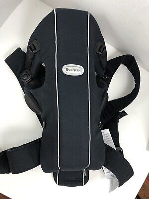 Used, Baby Bjorn Baby Infant Carrier The Original Black Cotton Adjustable for sale  Shipping to India