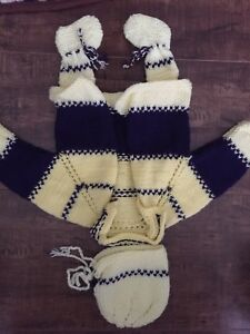 Handmade knit outfits. Super soft.