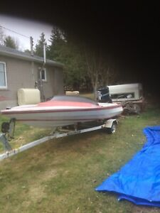 Boat. motor .and trailer