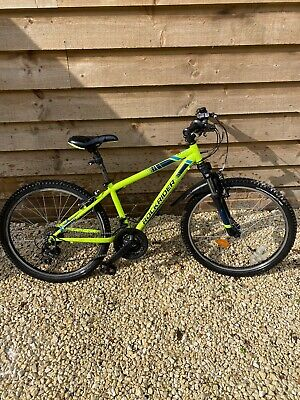 """27.5"""" MOUNTAIN BIKE ST 100 Rockrider - YELLOW, Boys or Girls, 10 year Old To 13"""