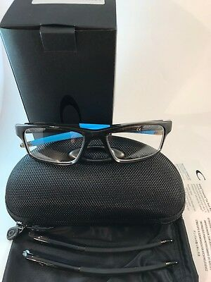 New Auth Oakley Eyeglasses OX 8037 1754 crosslink Pitch polished bark blue (Oakley Glasses Crosslink)