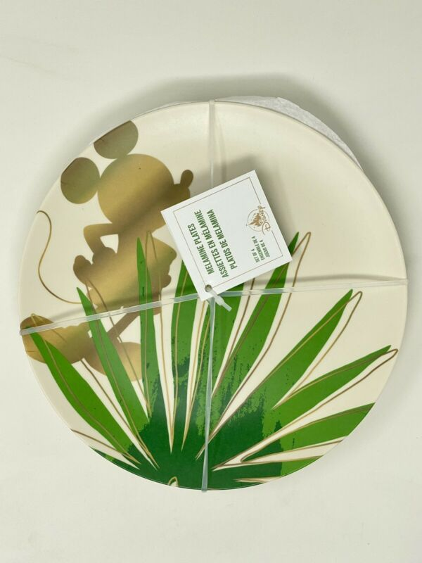 Disney - Mickey Mouse Tropical Plate Set (4 Plates)