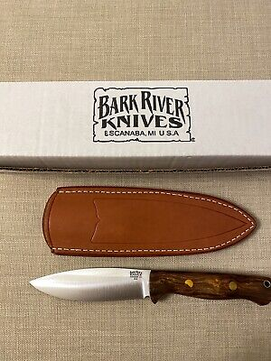 BARK RIVER KNIVES. UP BRAVO - Desert Ironwood - Red Liners - Brass Pins #1 - A2