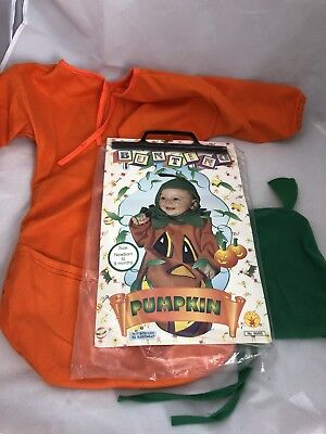 Halloween Pumpkin Costume Baby Bunting Size 0-9 Months trick treat dress up