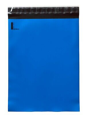 300 10x13 Poly Mailers Envelopes Self Sealing Shipping Mailers Blue Polysells