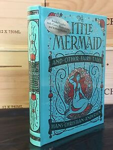 THE LITTLE MERMAID by HANS CHRISTIAN ANDERSEN Illustrated, Leatherbound & NEW!